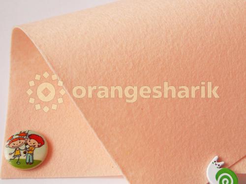 Фетр жёсткий 1,2мм 811 нежный персик