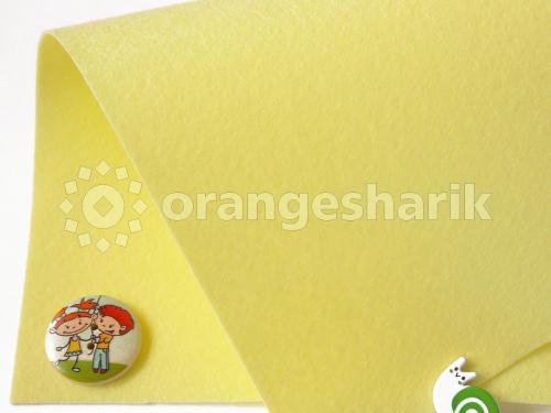 Фетр жёсткий 1,2мм 818 бледно-жёлтый
