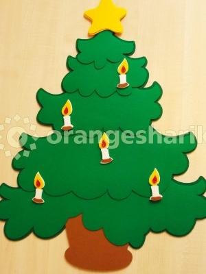Новогодняя ёлочка 60см со свечами, нарезка
