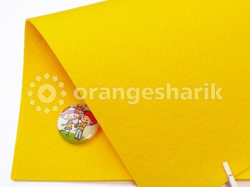 Фетр жёсткий 1,2мм 821 жёлтый