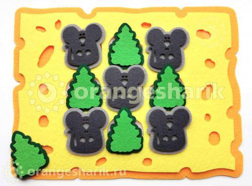 Крестики-нолики - Мышки на сыре, нарезка