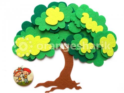 Деревья из фетра - Дерево с кроной