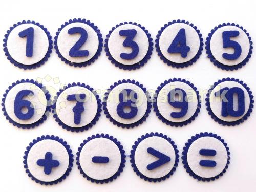 Комплект цифр 2см с кругами - комплект