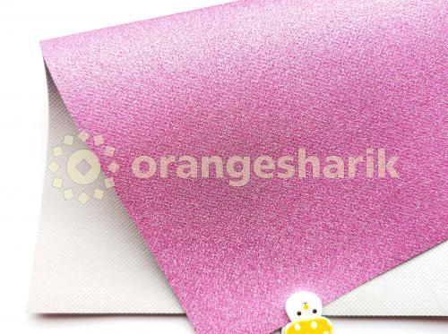 Блеск на тканом материале (розовый)