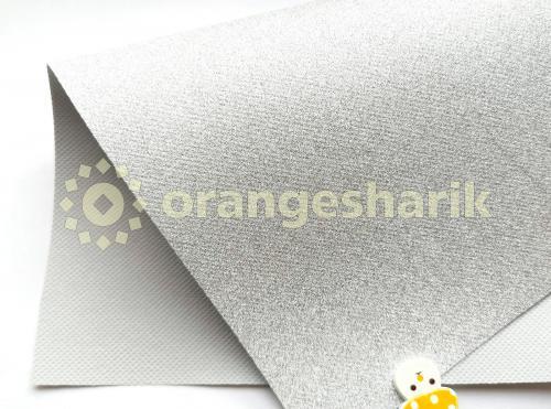 Блеск на тканом материале (серебро)