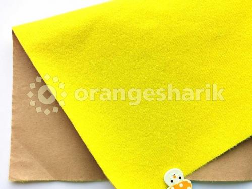 Велкроткань клеевая жёлтая (Китай)