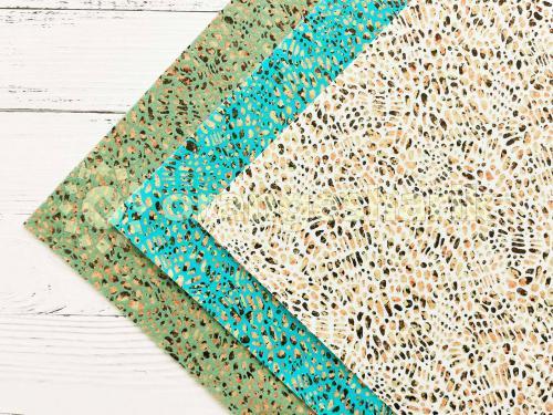 Блеск на ткани с рисунком Камешки 20*15см