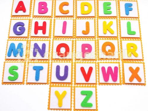Английский Алфавит, 3см с карточками