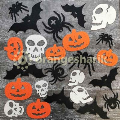 Праздничный декор из фетра Halloween большой комплект (24шт)