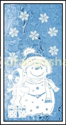 Украшение на окна - Время чудес, снеговик