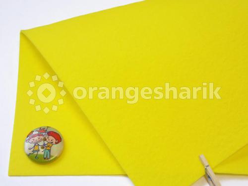 Фетр жёсткий 1,2мм 819 лимонный