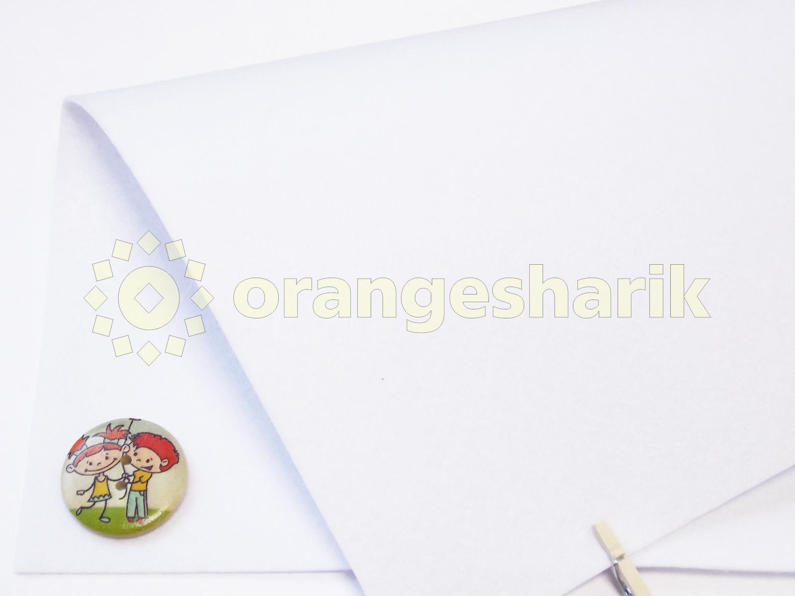 Фетр жёсткий 1,2мм 801 белый