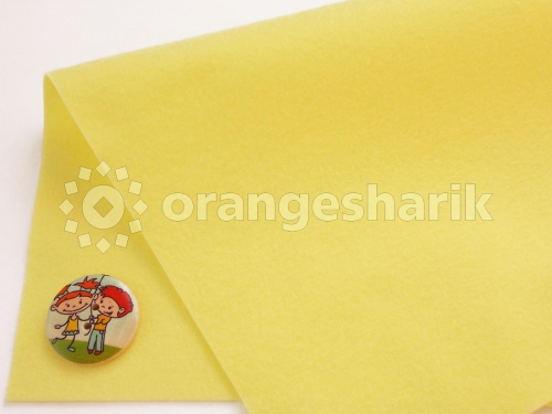 Фетр мягкий 1,0 мм 07 блед.жёлтый