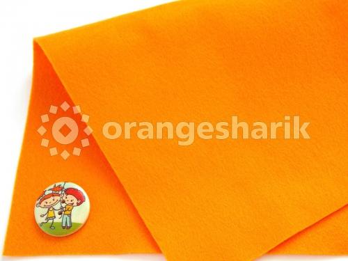 Фетр мягкий 1,0 мм 08 оранжевый
