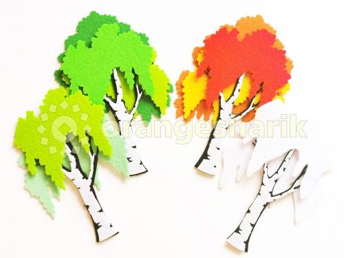 Деревья из фетра - Берёза